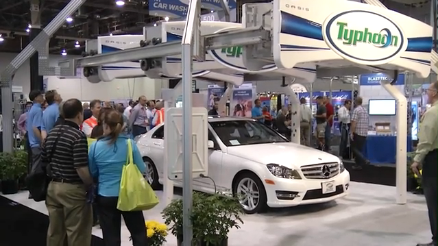 Here's one scene from last year's Car Wash Show. (Photo: Screenshot/International Carwash Association)