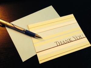A thank you note goes a long way toward building lasting relationships with customers. (Photo: Miami Writing)