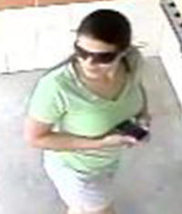 Security footage captured this image of a woman who's alleged to have stolen a wallet at a car wash. (Photo: Randy Flaum via yorkdispatch.com)