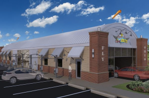 A rendering of Flying Ace Express Car Wash in Dayton, Ohio (courtesy)