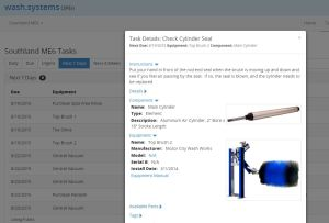 A screenshot from the Wash Systems software. (Courtesy Wash Systems)