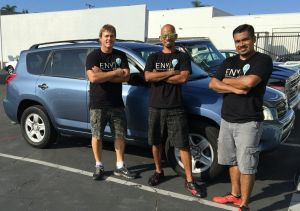Pictured is Envi founder Chad Zani and Envi employs and brothers Felix and Jose Ramirez. | The Beach Reporter