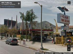 Google Images shows the car wash on Perlita Avenue. Photo from TheEastsiderLA.com.