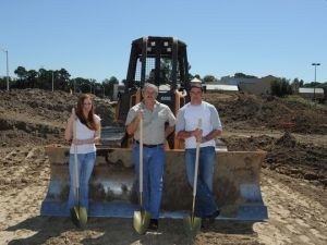 The Vevericas break ground on their current location. |Photo courtesy of family