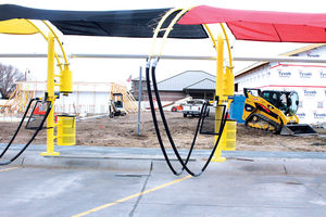 Construction takes places at Super Suds Car Wash. | www.nptelegraph.com